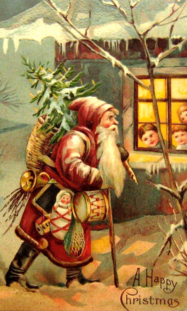 collecting old Christmas post cards is something I have enjoyed