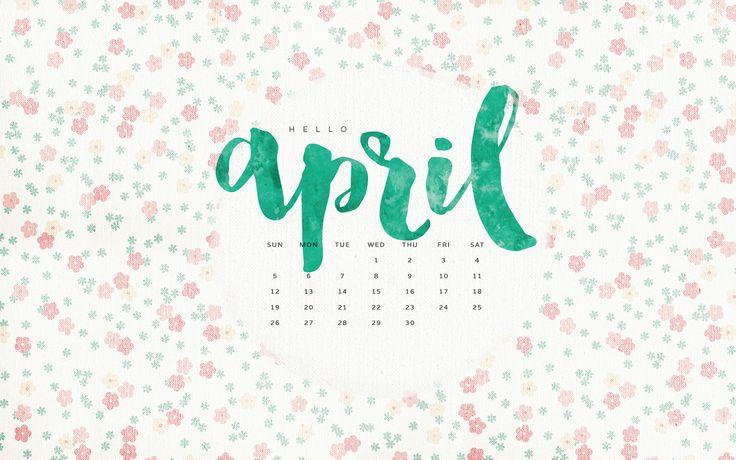 Desktop Calendar April 2016 imac or macbook wallpaper {right click image to open in new tab