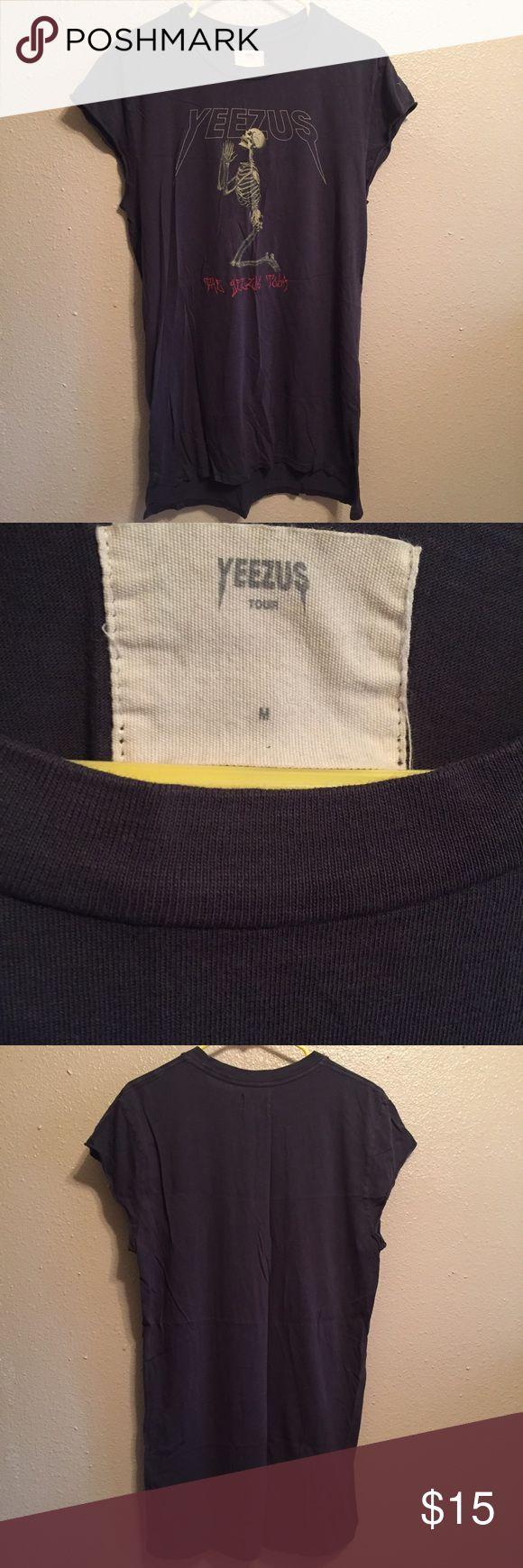 Yeezus Tour Shirt Barely worn Yeezus shirt. Size Medium, very long. Yeezy Tops Tank Tops