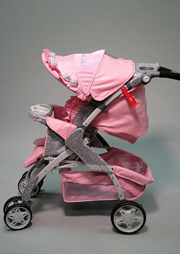 Bling your baby's stroller?? Idk cute but I wouldn't do this