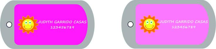 2 placas de identificación de regalo con el Pack Mixto