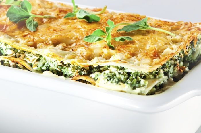 Our GERD diet friendly spinach lasagna recipe brims with the flavors of nutmeg and turmeric, spinach, winter squash, and a combination of low-fat cheeses.