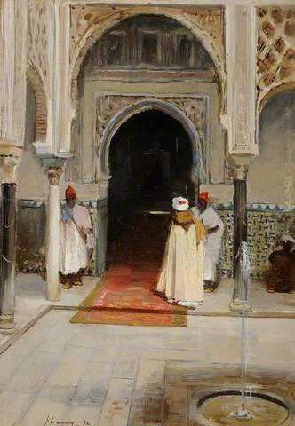 Dar el Cadi, Interior of a Mosque by John Lavery