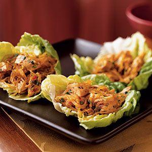 Thai Chicken Lettuce Wraps: Asian Lettuce Wraps, Asian Recipes, Asian Food, Lettuce Wraps Recipes, Cooking Lights, Chicken Lettuce Wraps, Nom Nom, Rice Noodles, Spicy Asian
