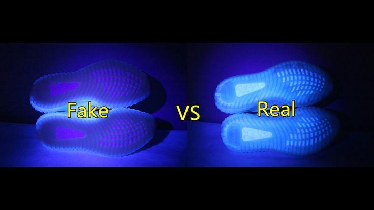 "Real vs Fake Yeezy V2 ""Triple White"" Comparison From gogoyeezy.net"