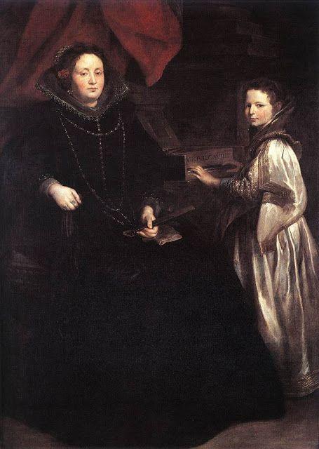 H Porzia Imperial και θυγατέρα της (1628)