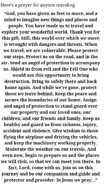 Traveling prayer