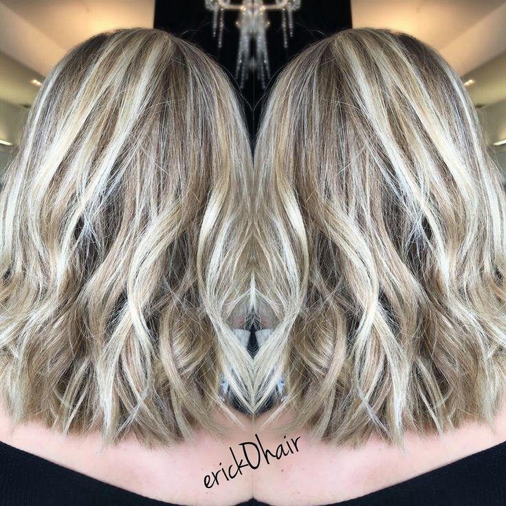 Balayage And Foil Blonde Hair On Natural Dark Ash Blonde