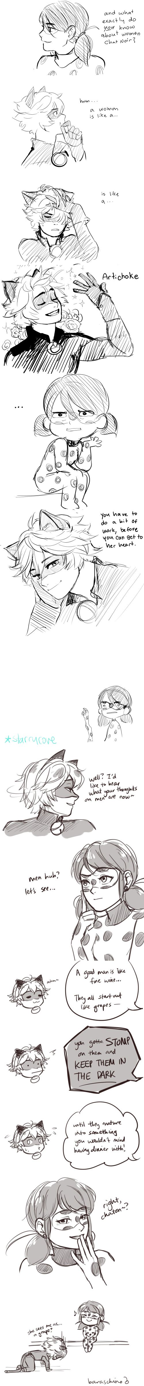 How Ladybug and Chat Noir see each other~ (Miraculous Ladybug, Chat Noir, comic, funny)