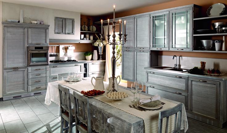 Terre di Toscana finitura Argento #zappalorto #tuscany #madeinitaly #country #kitchen #wood #chic #interior #silver