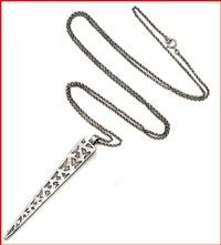 Valhalla Spike Necklace in Sterling Silver