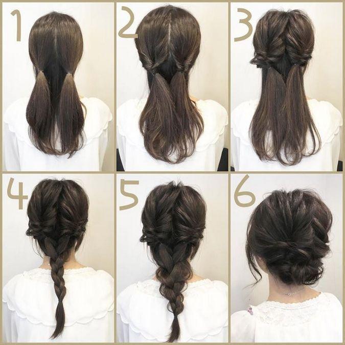 Hochsteckfrisuren für mittelgroße Haare 75 #Haar…