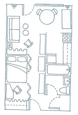 287 best images about small space floor plans on pinterest for 3 door apartment floor plan