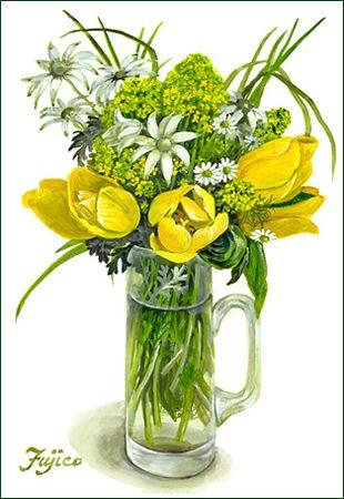 黄色いチューリップ(2)