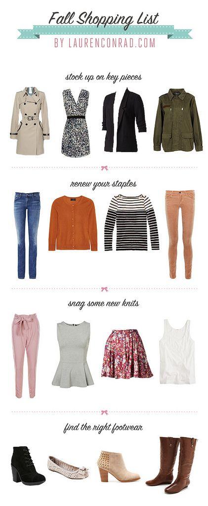 Fall Shopping List by Lauren Conrad: Laurenconrad With