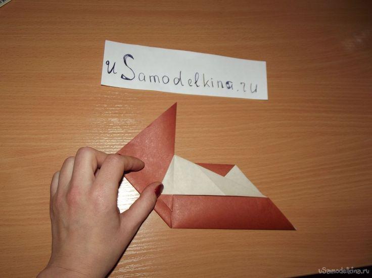Оригами сердце с галстуком