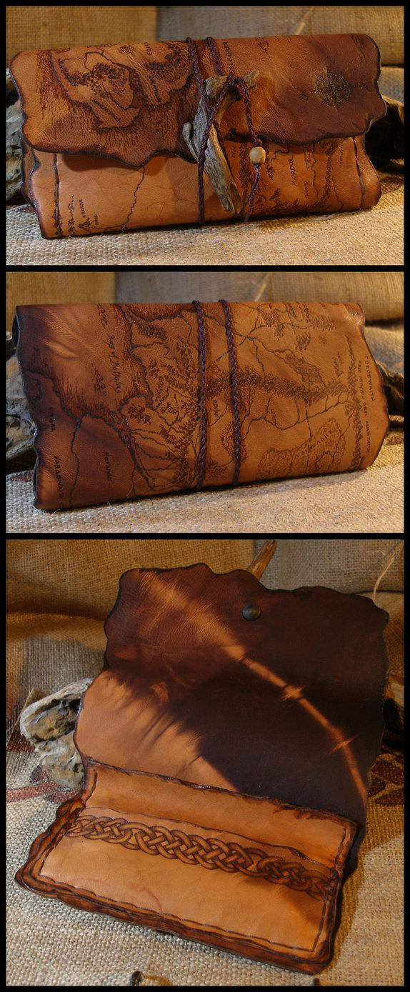 Middle Earth Map tobacco pouch by morgenland.deviantart.com on @DeviantArt