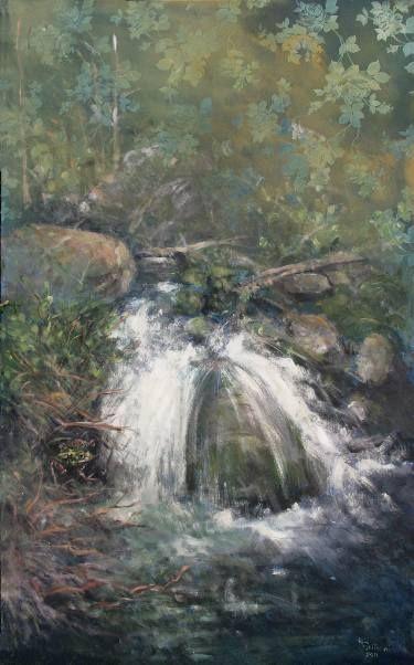 "Saatchi Art Artist simone Butturini; Painting, ""The frog and the creek"" #art"