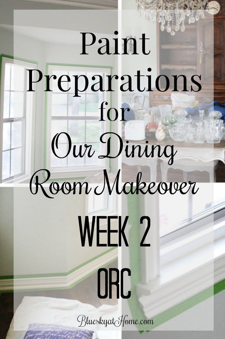Paint Preparations For Our Dining Room Makeover Home Decor Room