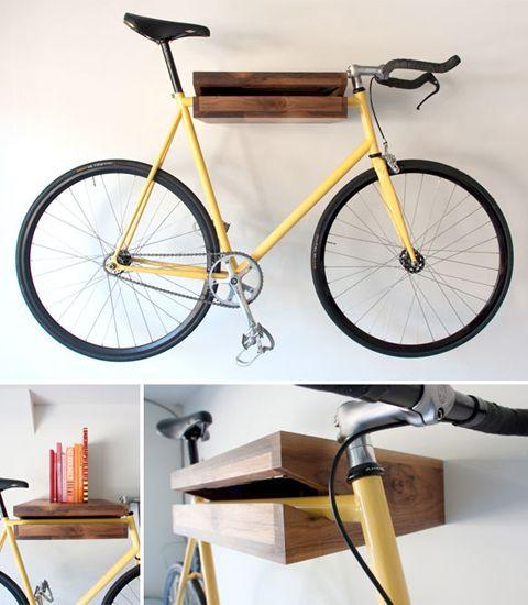 Bike shelf.