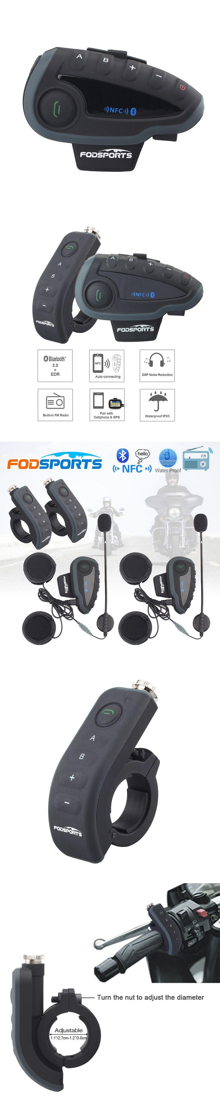 2 pcs V8 Motorcycle Helmet Bluetooth Intercom Helmet Headset Headphone 5 Riders BT Interphones FM Radio NFC Remote Control