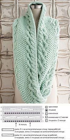 Вязаный спицами шарф снуд. Вяжем шарф снуд по схеме | Лаборатория домашнего хозяйства