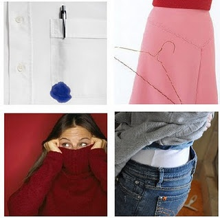 Quick fixes to common wardrobe malfunctions!
