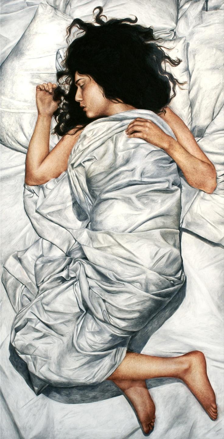 """Science of Sleep I"" (oil on canvas; 2012) by Hanna Fideli Nordqvist"
