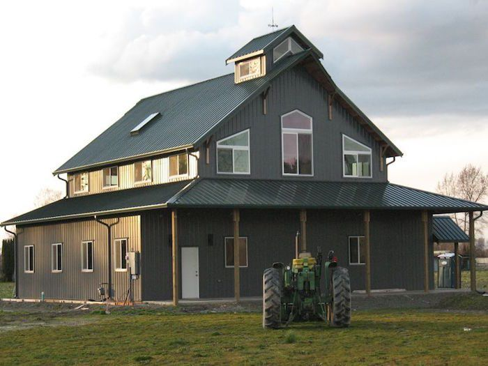 1677 best pole barn houses images on pinterest pole barn for Barn home builders indiana
