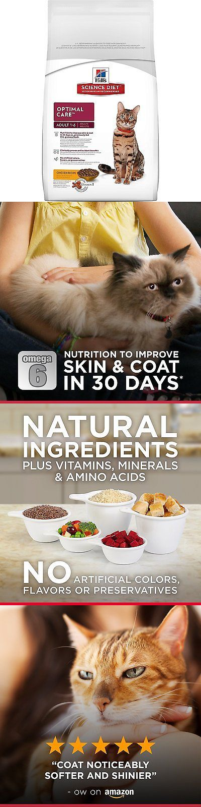 Animals Cats: Hills Science Diet Adult Optimal Care Chicken Recipe Dry Cat Food, 16 Lb Bag -> BUY IT NOW ONLY: $41.33 on eBay!