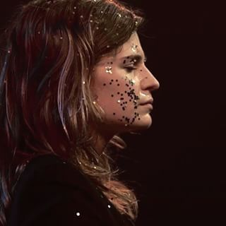 Also, just because, she looks amazing covered in glitter. | 18 Reasons Christine And The Queens Should Be Your New Crush