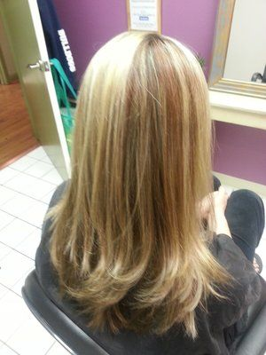Copper Lowlights In Dirty Blonde Hair Blonde Highlights