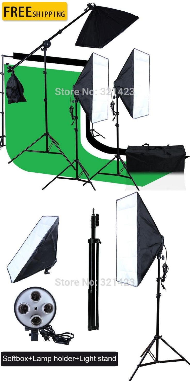 new photographic equipment free shipping backdrop support stand muslin backdrop softbox light stand 6.5ft four-capped lamp