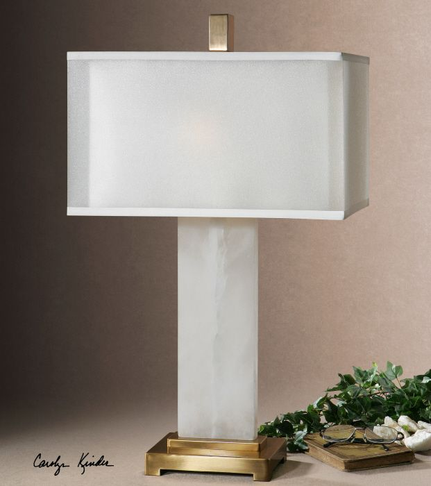 Uttermost Athanas Lamp. White Alabaster Base Accented With Plated Coffee  Bronze Details. The Double · Uttermost LightingDesk ...