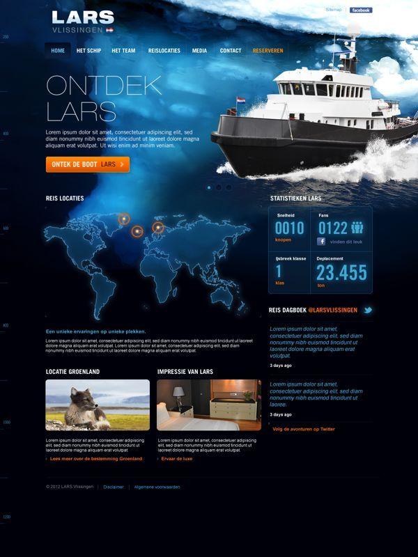 Ideas & Inspirations für Web Designs LARS by  Tom Arends, via Behance Schweizer Webdesign http://www.swisswebwork.ch