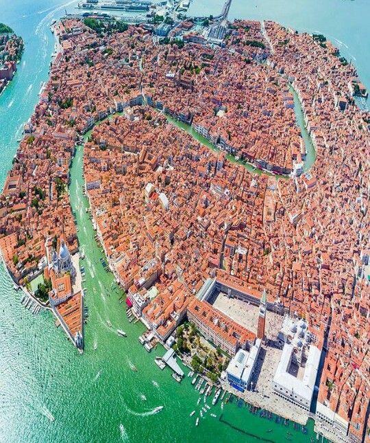 Vista aérea de Venecia.