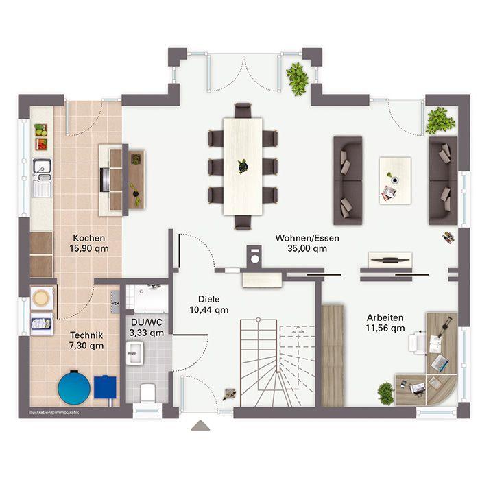Traumhaus modern grundriss  Die besten 25+ moderne Hauspläne Ideen auf Pinterest | Moderne ...