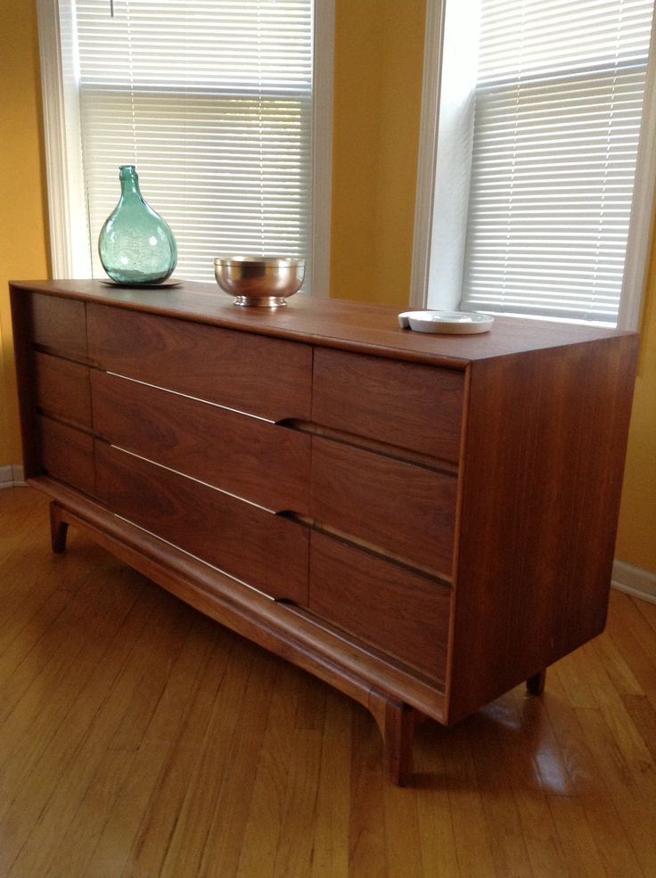 Custom Finished Cherry Red Mid Century Dresser By Chicago Fire Furniture