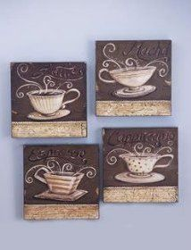 Latte Decorations Wall Plaques Make A Unique Accent To Your Coffee Decor