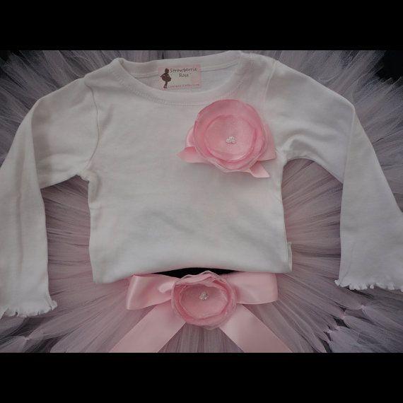 Sweet Ballerina Pink Tutu Dress Set by StrawberrieRose on Etsy
