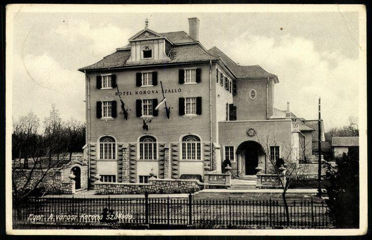 1939. Eger, A városi Korona szálloda  [Korona tér 1.] - mai Park Hotel, Klapka György utca