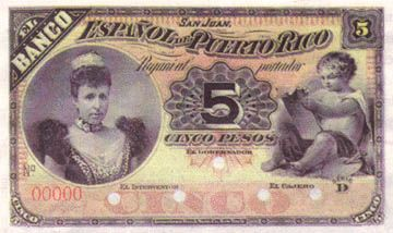 """This is a picture of Puerto Rico money called 'Peso"""". They also use American dollars. 1 Peso is 100 cents just like an American dollar."""