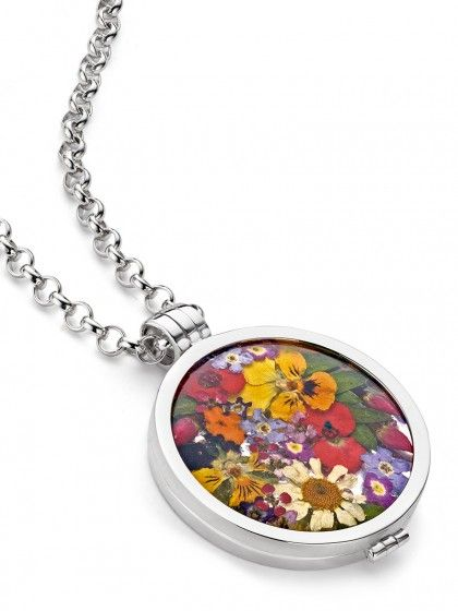 My imenso inspiratie | grande flora 33mm | €235 | zilveren medaillon 33mm + flora mix kleur 33mm + jasseron big zilveren ketting 60 cm | #sieraad #zilversieraad #zilver #medaillon #sieraden #myimenso #JDBW