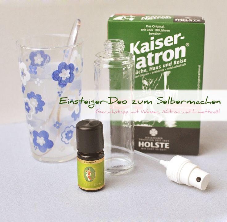 Die wahrscheinlich einfachste, preisgünstigste und gesündeste Methode nicht zu riechen: Selbstgemachtes Natron Deo ohne Aluminium auf Wasserbasis.