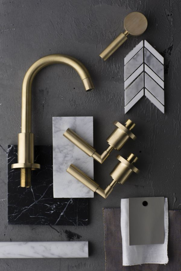 Master bath combo inspiration   Disregard the other finishes but these  Astra Walker Taps could be carried through to the bathrooms too. Best 25  Brass bathroom ideas on Pinterest   Hipster bathroom