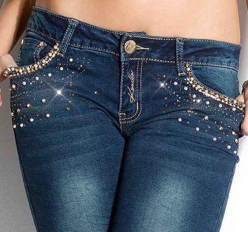 Jeans Pitillo Diamonds Skinny Jeans que haran de la tuya una silueta sexy. Estos impresionantes jeans son de suave tacto y acabados de calidad.  Código producto: IS1033