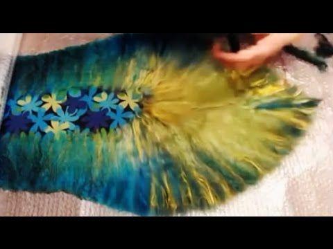 Валяние из шерсти  ✿  Шарф-палантин с декором  ✿  МК Светланы Фоминой - YouTube