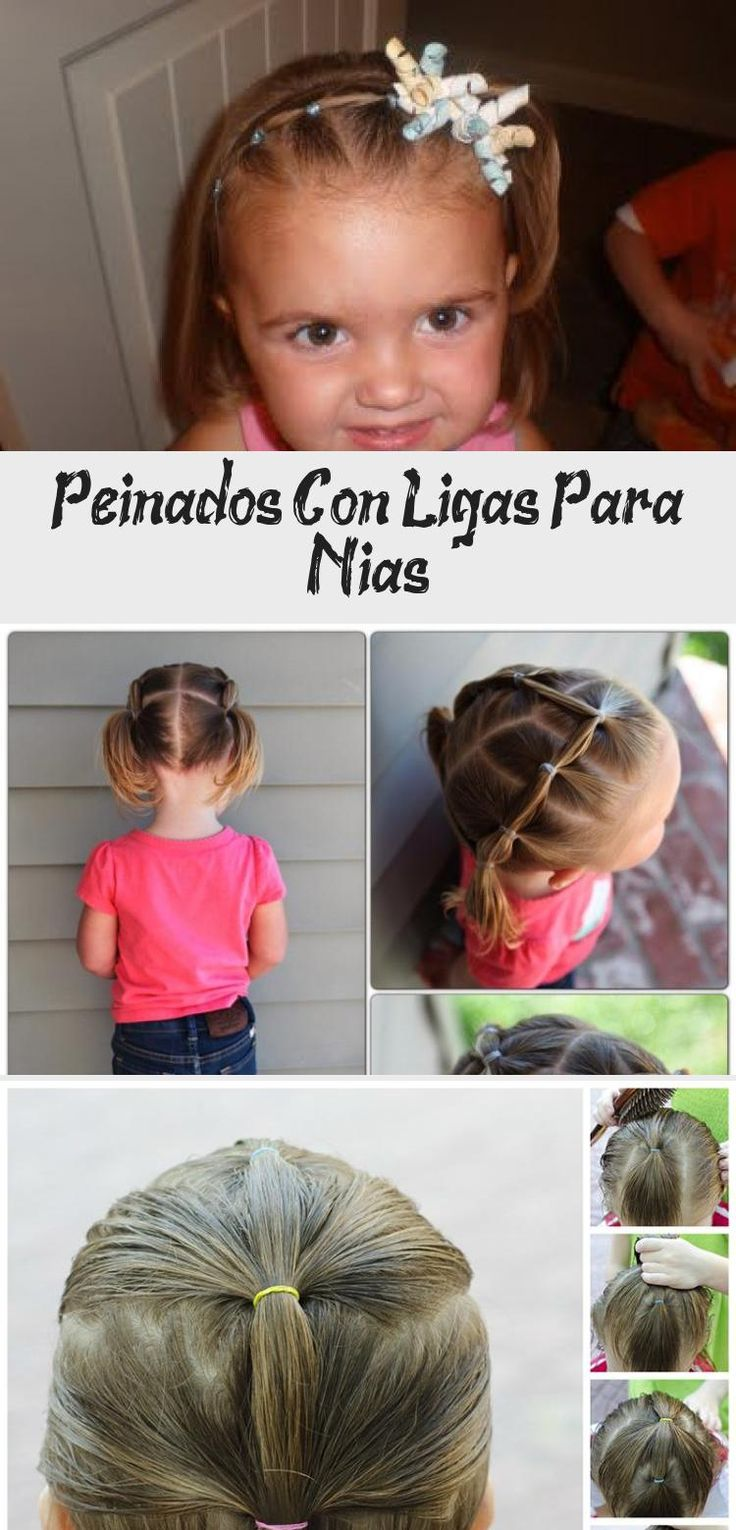 This next style was when she was a little big older, so her hair was a little longer. It starts the same as the first style I showed you, and you achieve it in the same manner. I ended it all the way down at the nape of her neck like a low ponytail. Then I added colorful bows to finish the look off! #Mexicanbabyhairstyles #Cutebabyhairstyles #babyhairstylesBoy #babyhairstylesMen #Easybabyhairstyles