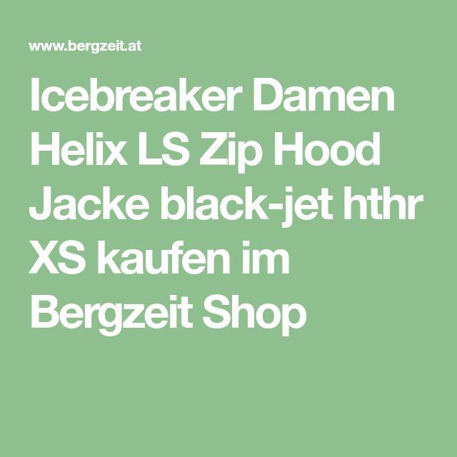 Icebreaker Damen Helix LS Zip Hood Jacke black-jet hthr XS kaufen im Bergzeit Shop