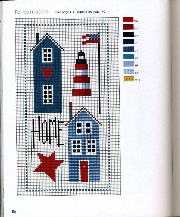 cross stitch - nautical